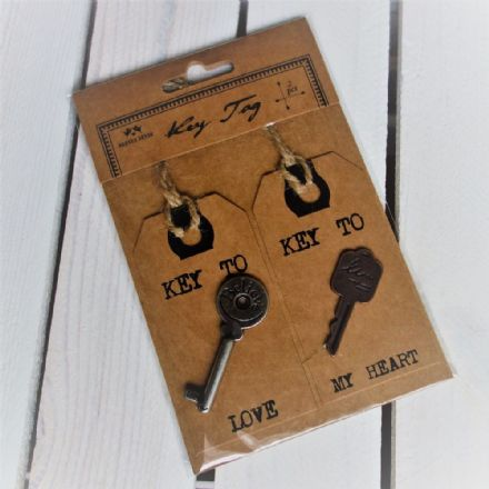 Key tags (real keys!)